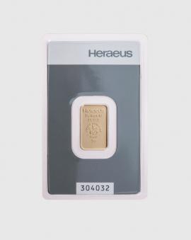 5 gram Heraeus Guldtacka