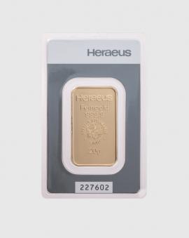 20 gram Heraeus Guldtacka