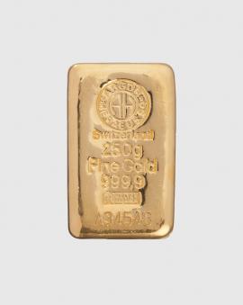 250 gram Argor Heraeus Guldtacka