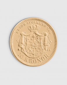 4,03 gram Svensk 10 kronor Oscar II Guldmynt