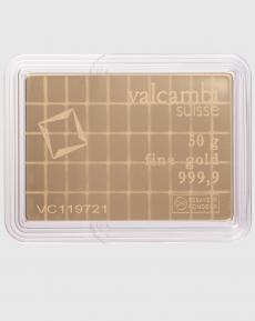 50 x 1 gram Valcambi CombiBar Guldtacka