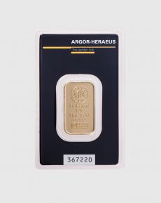 10 gram Argor Heraeus Guldtacka