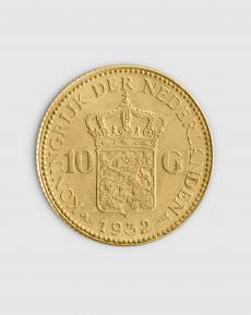 6,06 gram Nederländsk 10 Guilder Guldmynt