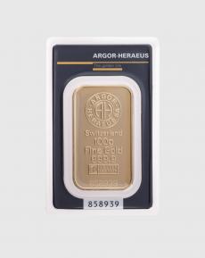 100 gram Argor Heraeus Guldtacka