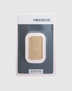 10 gram Heraeus Guldtacka