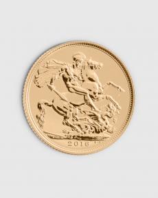 7,32 gram Brittisk Sovereign Elizabeth II Guldmynt