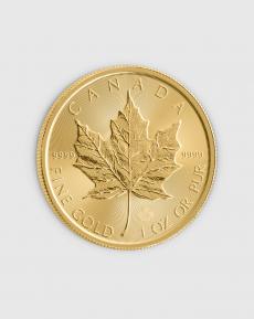 1 oz Kanadensisk Maple Leaf Guldmynt