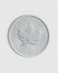 1 oz Kanadensisk Maple Leaf Silvermynt