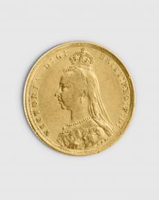 7,32 gram Brittisk Sovereign Victoria Guldmynt