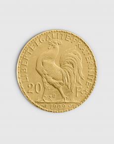 5,81 gram Fransk 20 Franc Marianne Guldmynt