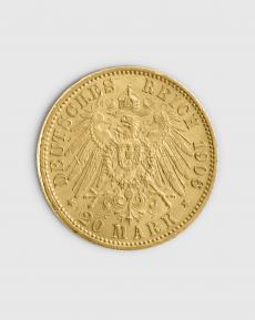 7,17 gram Tysk 20 Mark Guldmynt
