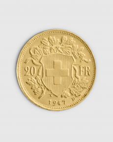 5,81 gram Schweizisk 20 Franc Vreneli Guldmynt