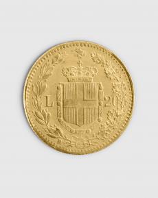 5,81 gram Italiensk 20 Lira Guldmynt