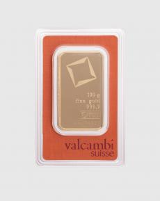 100 gram Valcambi Guldtacka
