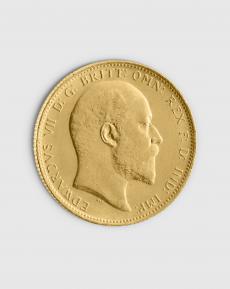 7,32 gram Brittisk Sovereign Edward VII Guldmynt