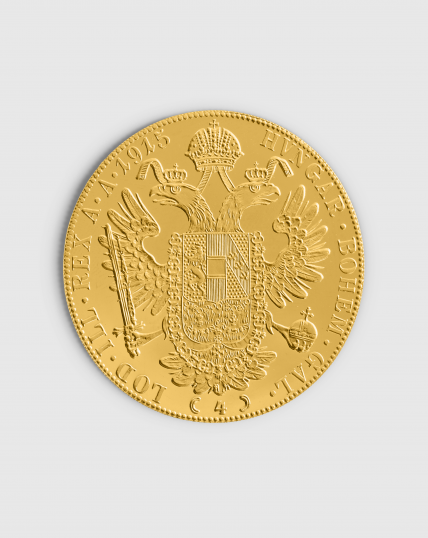 13,77 gram Österrikisk 4 Dukat Guldmynt