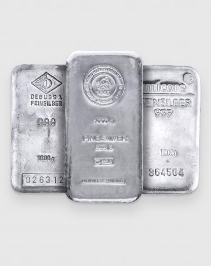 1000 gram Olika Tillverkare Silvertacka