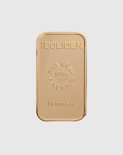 100 gram Boliden Guldtacka